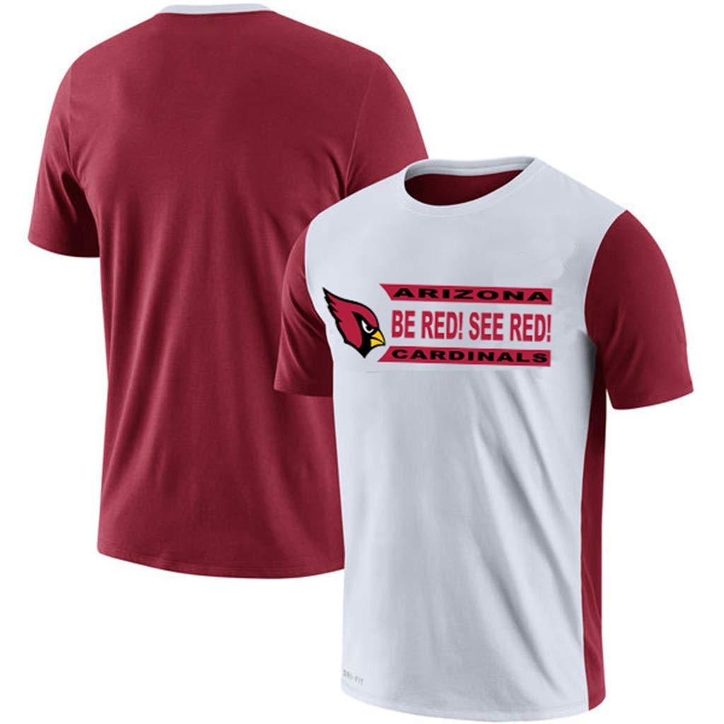 HYYSH T-Shirt T-Shirt D/ébardeur Homme Arizona Cardinals Imprimer Rugby Sportswear Lettre Imprimer en Vrac Color : B, Size : XXL