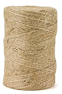 Jute Package Twine - 360 Feet, 3-Ply, Premium Quality, Natural and Biodegradeable by eco-Rope