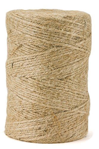 Jute Package Twine - 360 Feet, 3-Ply, Premium Quality, Natural and Biodegradeable by (Hemp Twine Wholesale)