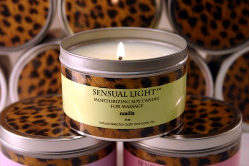 - 8 oz Sensual Light Massage Candle - Rosemary Mint