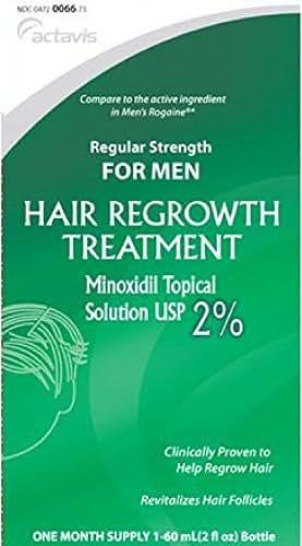 Mens Minoxidil 2% Regular Strength Hair Regrowth Treatment Solution - 60 mL