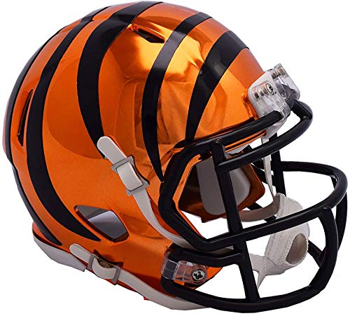 Riddell Cincinnati Bengals Chrome Alternate Speed Mini Football Helmet - NFL Mini Helmets