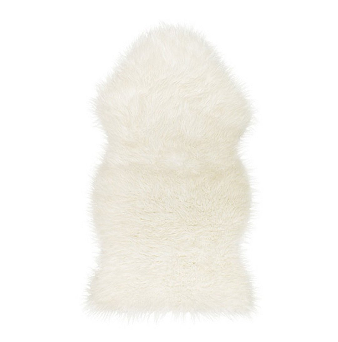 Faux Sheepskin Fur Rug,Cozy Feeling Like Real Wool, White Cailorlife