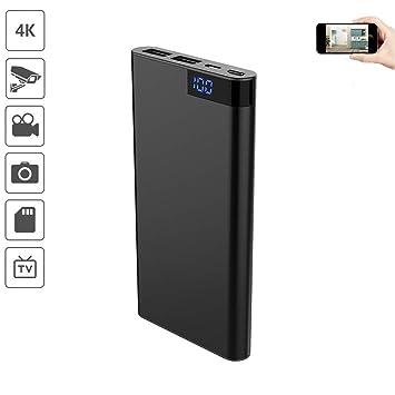 4K WiFi Mini DV HD Cámara espía Oculta Energía móvil Cámara de 1080P Cámara inalámbrica pequeña Visión Nocturna Activación móvil Cámara de vigilancia ...