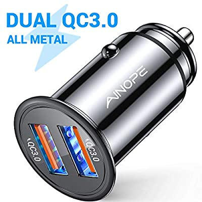 AINOPE USB Car Charger, [Dual QC3.0 Port] 36W/6A [All Metal] Fast Car Charger Mini Cigarette Lighter Usb Charger Quick Charge Compatible with iPhone 11/11 pro/XR/X/XS, Note 9/Galaxy S10/S9/S8: Home Audio & Theater