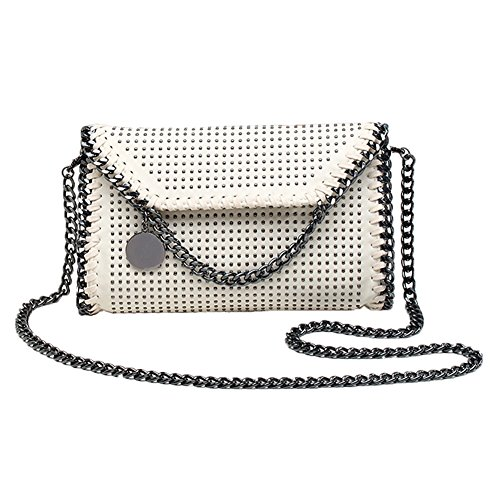 Bag Bags Chain Pu Bag Strap Valleycomfy body Handbag Metallic Beige2 Cross Clutches Shoulder Elegant Women Leather BB6UxS