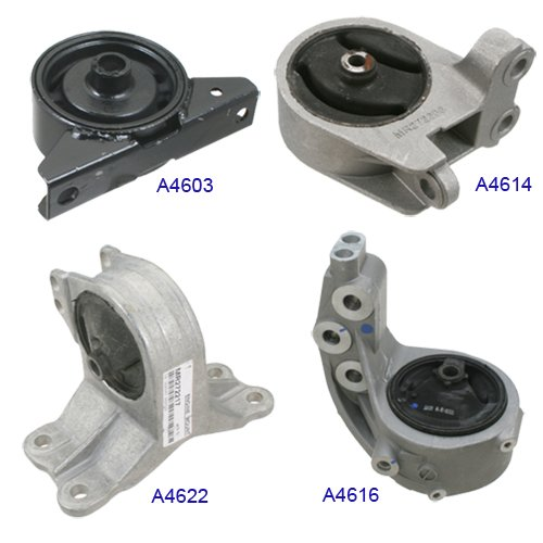(Engine Motor & Trans Mount Set 4PCS for 2000-2005 Mitsubishi Eclipse 3.0L Manual Transmission MR272203, MN101072, MR272206, MR272217, EM9160, EM9187, EM5349, EM5452)