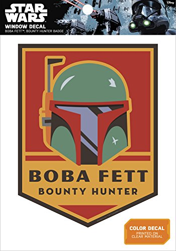 Star Wars Boba Fett Bounty Hunter Badge Window Decal