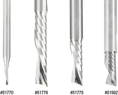 Aluminum Cutting 1//4 Dia x 3//4 x 1 Amana Tool 51775 Solid Carbide CNC Spiral O Flute
