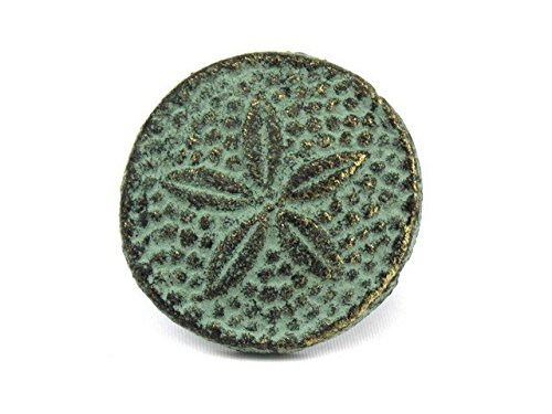 Handcrafted Decor K-1305-bronze Antique Bronze Cast Iron Sand Dollar Napkin Ring44; 2 in. - Set of 2