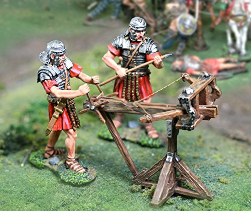 Roman Wars Toy Soldiers Roman Scorpion Set with Figures The Collectors Showcase Toy Soldiers Painted Metal Figure 54mm CS00768 Compatible with Britains Thomas Gunn First Legion King and Country Black Hawk Type