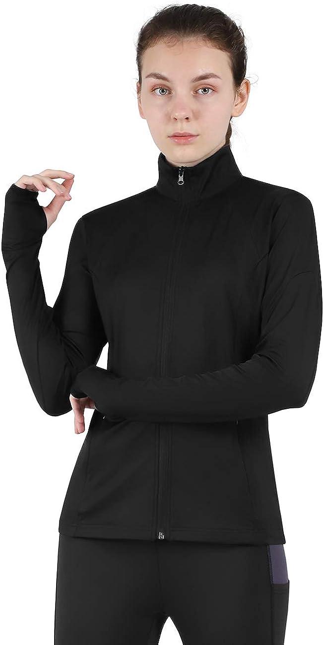 DISHANG Women's Full Zip Running Jacket Workout Track Jacket Active Wear