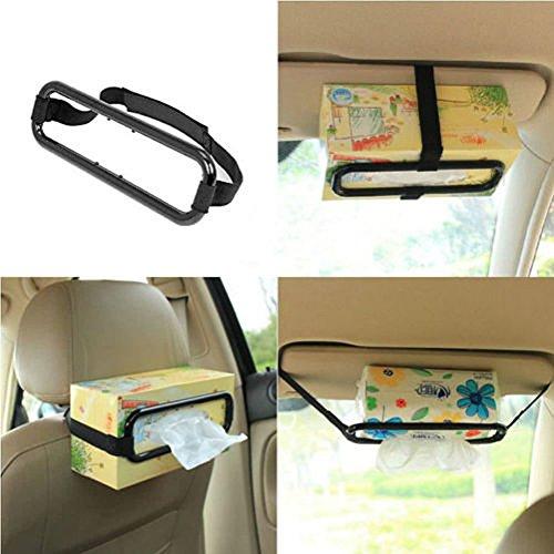VIPASNAM-Car Sun Visor Tissue Paper Box Holder Auto Seat Back Accessories Clip Bracket