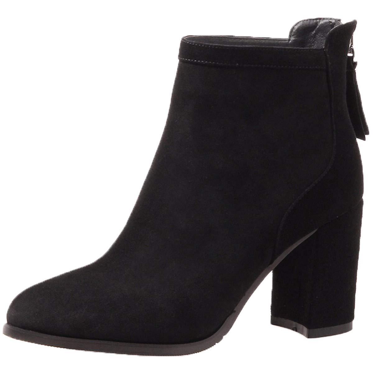 HBDLH Damenschuhe Kurze Stiefel, Hohe Stiefel, Martin Stiefel und 6 cm, Nackt, Stiefel, und Im Herbst Stiefel.