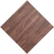 ALGFree Interlocking Floor Tiles Imitation Wood Grain Foam Play Puzzle Mat Kids Children's Playmat Living