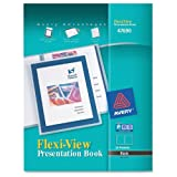 Avery Flexi-View Presentation Book, Black, 24 Page Book (47690)