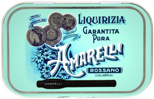 Amarelli Medaglie Pure Liquorice Medal Tin 40 g (Pack of (40g Tin)