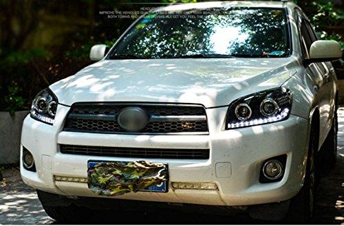 GOWE Car Styling Car Styling For toyota RAV4 headlights 2009-13 For RAV4 LED head lamp Angel eye led DRL front light Bi-Xenon Color Temperature:6000K Wattage:35W 4