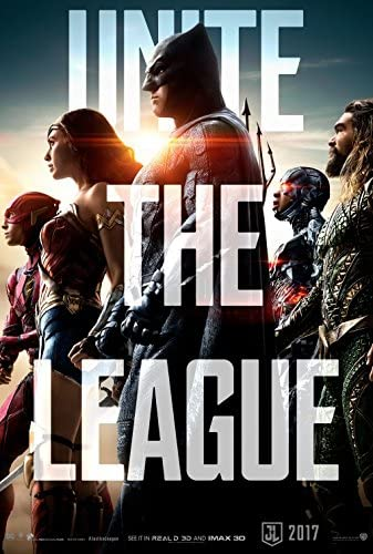 Amazon Com Justice League 2017 Original Movie Poster 27x40 Dbl Sided Ben Affleck Gal Gadot Henry Cavill Jason Momoa Ezra Miller Amber Heard Mera Ray