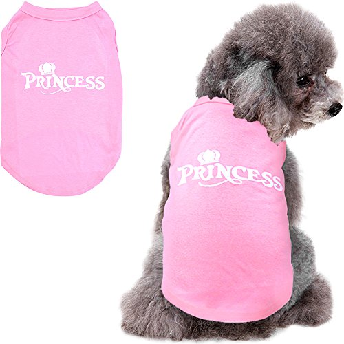 (Mihachi Dog Shirt - Princess T Shirts,Back Length 13.5