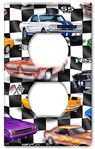 Outlet Cover Wall Plate - Muscle Cars