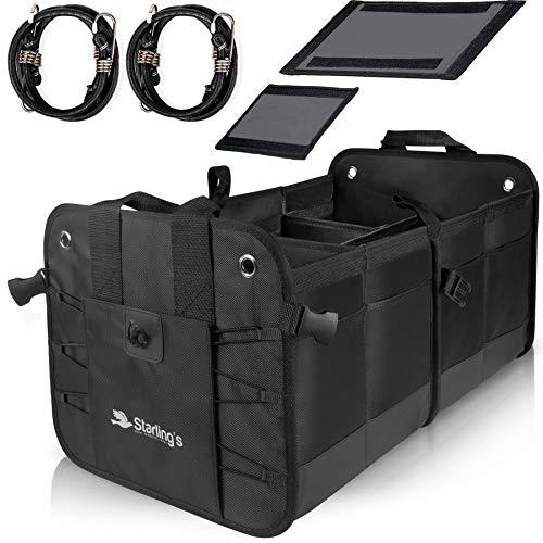 Starling's Car Trunk Organizer - Durable Storage SUV Cargo Organizer Adjustable, Black