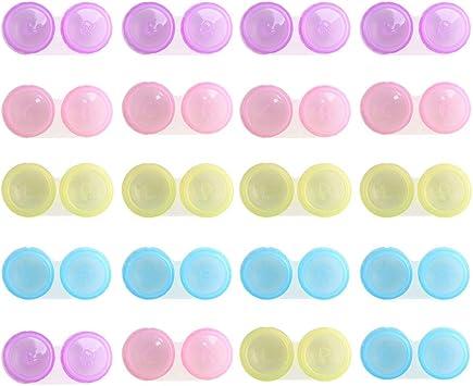 Pulluo 20pcs Estuche para Lentes de Contacto, Caja de Lentes de Contacto de Viaje Portalentillas Lentes de Contacto, 4 Colores: Amazon.es: Salud y cuidado personal