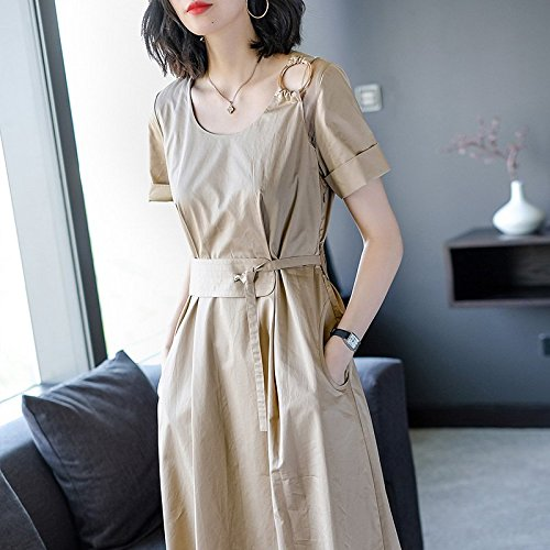 ... Manches Colliers Longues Un M Nouveau Colliers Robes Style Yellow 2018  MiGMV de Femme Robe Courte ... b861da522799