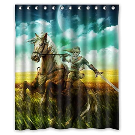 Special Designed The Legend Of Zelda Shower Curtains 60 X 72 Home Decor Bath Curtain Animal Background 02 Amazoncouk Kitchen