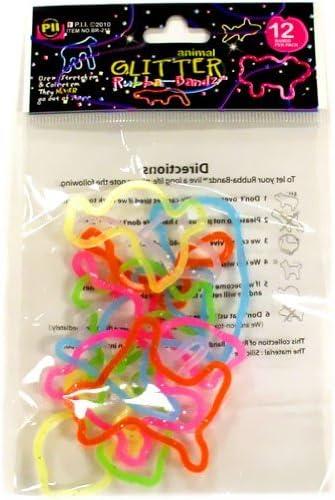 Rubba Bandz Shaped Bandas De Goma Pulseras Pack De 12 Unidades Con Purpurina Animales Formas Toys Games