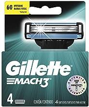 Gillette Mach3 Cartuchos Para Afeitar 4 Unidades, Empaque puede variar