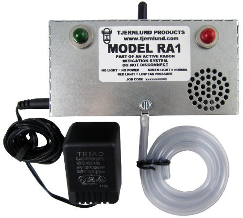 Tjernlund RA1 Radon Fan Failure Alarm for Safety of Pro Radon Mitigation Systems (Safety Siren Pro Series3 Radon Gas Detector)