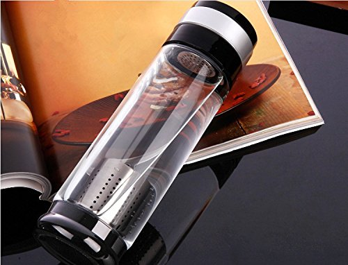 glass water bottle straw filter - 7