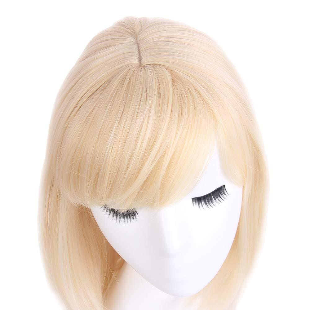 STfantasy Peluca mujer rubia amarillas Natural bob recta Flequillo Ombre wig para uso diario carnaval halloween fiesta de disfraces Cosplay: Amazon.es: ...