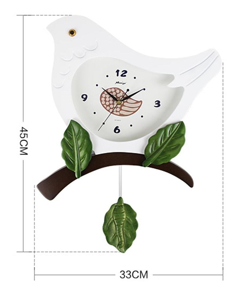 fwerq 12-inch Lounge creative modern Simple Mode Mute Room Kids Art pastoral cartoons Wall Clock Birds by fwerq (Image #1)