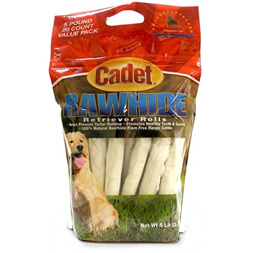 cadet retriever rolls rawhide 10 size pack of 40. Black Bedroom Furniture Sets. Home Design Ideas