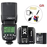 Godox V860II-N i-TTL 2.4G High Speed Sync 1/8000s GN60 Li-ion Battery Camera Flash speedlite light + Godox X1T-N Wireless Remote Flash Trigger Transmitter for Nikon Cameras