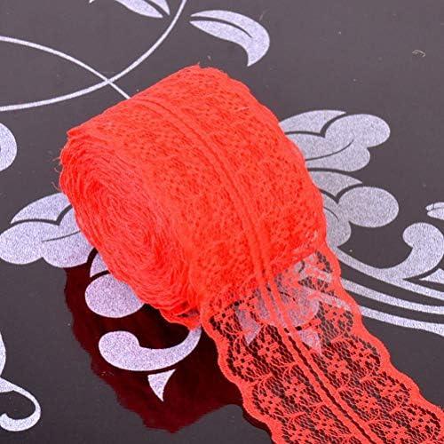 Healifty リボン レーストリム レースのリボン 花のデザイン クラフト 手芸用 DIY 刺繍 ロマンチック ホーム ウェディング パーティー  デコレーション 6ロール