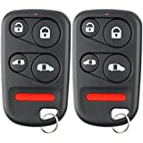 KeylessOption Keyless Entry Remote Car Key Fob Clicker for Honda Odyssey E4EG8DN (Pack of 2)
