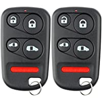 KeylessOption Keyless Entry Remote Control Car Key Fob Replacement for E4EG8DN (Pack of 2)