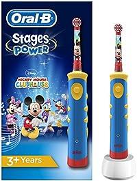 Oral-B Stages Power Kids Elektrische Kinderzahnbürste, im Disney Mickey Mouse Design