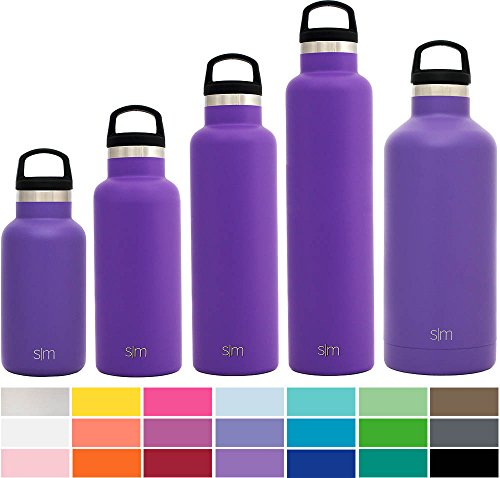 Simple Modern Ascent Water Bottle - Vacuum Insulated Double Wall 18/8 Stainless Steel Swell Flask - Hydro Travel Mug -