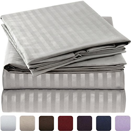 Mellanni Striped Bed Sheet Hypoallergenic product image