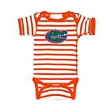 Florida Gators Orange Striped NCAA College Newborn Infant Baby Creeper (0-3 Months)