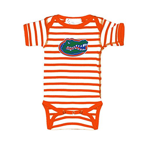 Florida Gators Orange Striped NCAA College Newborn Infant Baby Creeper (0-3 Months)