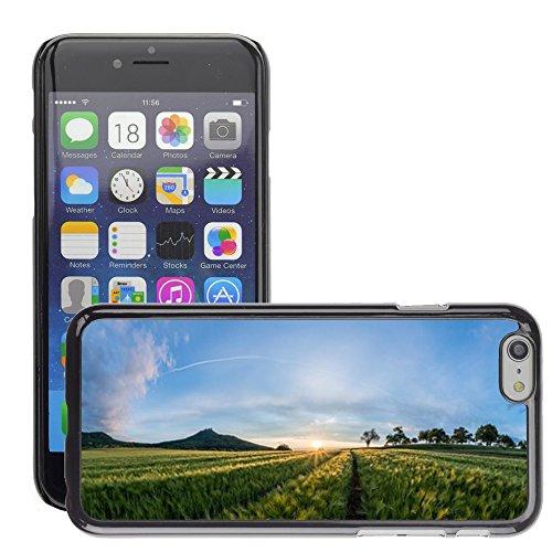 """Stampato Modelli Hard plastica Custodie indietro Case Cover pelle protettiva Per // M00421725 Champ Paysage Coucher de soleil d'été // Apple iPhone 6 4.7"""""""