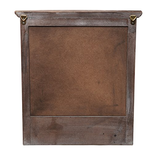 Mygift Wall Mounted Country Brown Rustic Wood Framed Memo