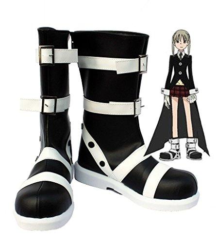Soul Mangeur Maka Albarn Cosplay Chaussures Bottes Faites Sur Commande