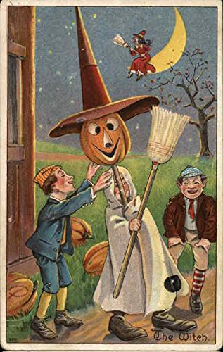 The Witch - Children in Costume Halloween Original Vintage -