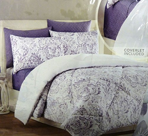 Style Domain 6 Piece Comforter Set, Queen, Orchid -